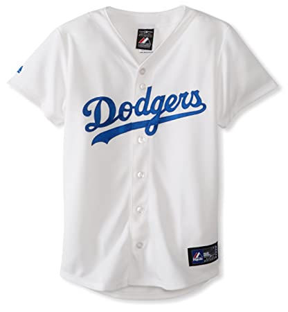 Amazon.com   MLB Los Angeles Dodgers Home Replica Baseball Women s ... 2d03db5ff4d