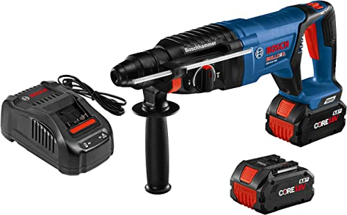 Bosch GBH18V-26DK24 18V EC Brushless SDS-plus Bulldog 1 In. Rotary Hammer Kit with 2 CORE18V 8.0 Ah Performance Batteries