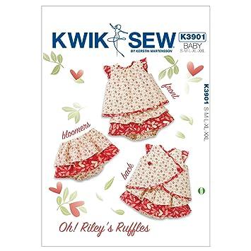 Kwik Sew Mustern K3901 Größe S/M/L/XL/XXL, oh. Rileys Rüschen, weiß ...