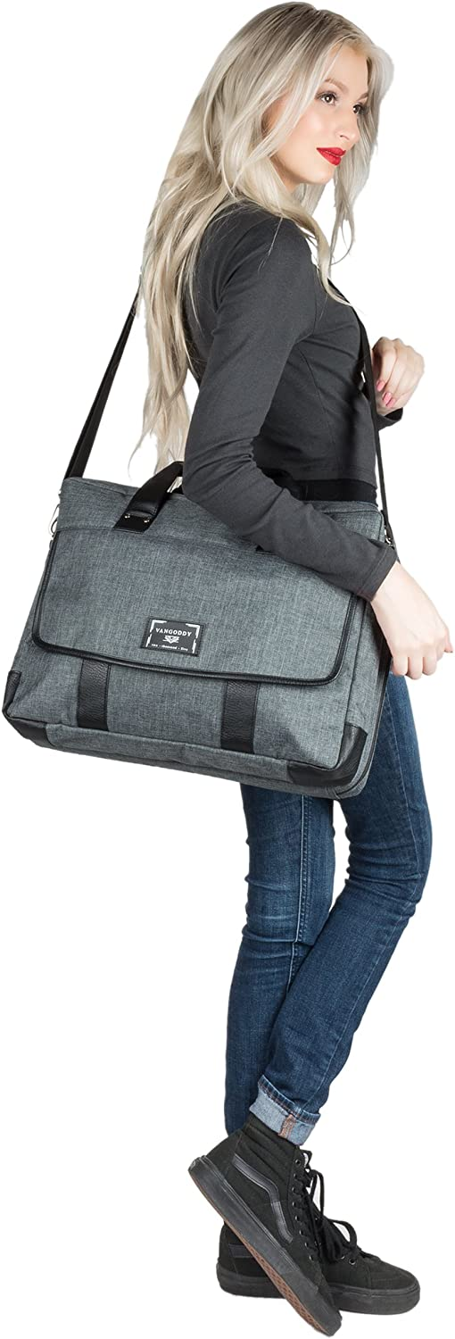 Vostro Latitude WGS Water Resistant Laptop Shoulder Bag Briefcase Crossbody Tote for Dell Precision Alienware M17 G7 15 Inspiron and Wireless Mouse with Headphone