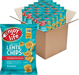 product image for Enjoy Life Margherita Pizza Lentil Chips, Dairy Free Chips, Soy Free, Nut Free, Non GMO, Vegan, Gluten Free, 24 - 0.8 oz Bags