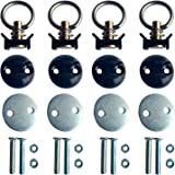 4 Pack Round Anchor Point Tie Down Kit, Bolt On Fitting Kit with Quick Release Tie Down Anchor