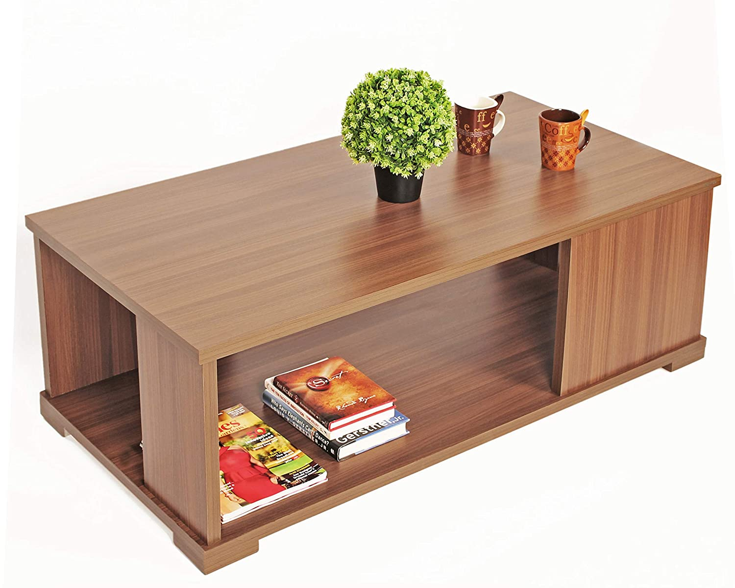 Bluewud Noel Coffee Table with Shelves
