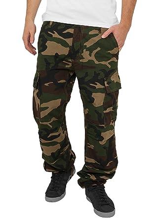 Urban Classics Camouflage Cargo Pantalon pour Homme, Wood Camo - Vert - W30 05f8faa0ca72