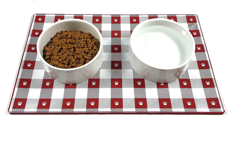 EdRock Dog Cat Food Mat | FDA Grade, Non-Slip, Non-Stick Silicone Tray | No Mess Dog Cat Pet Feeding Bowl Placemat