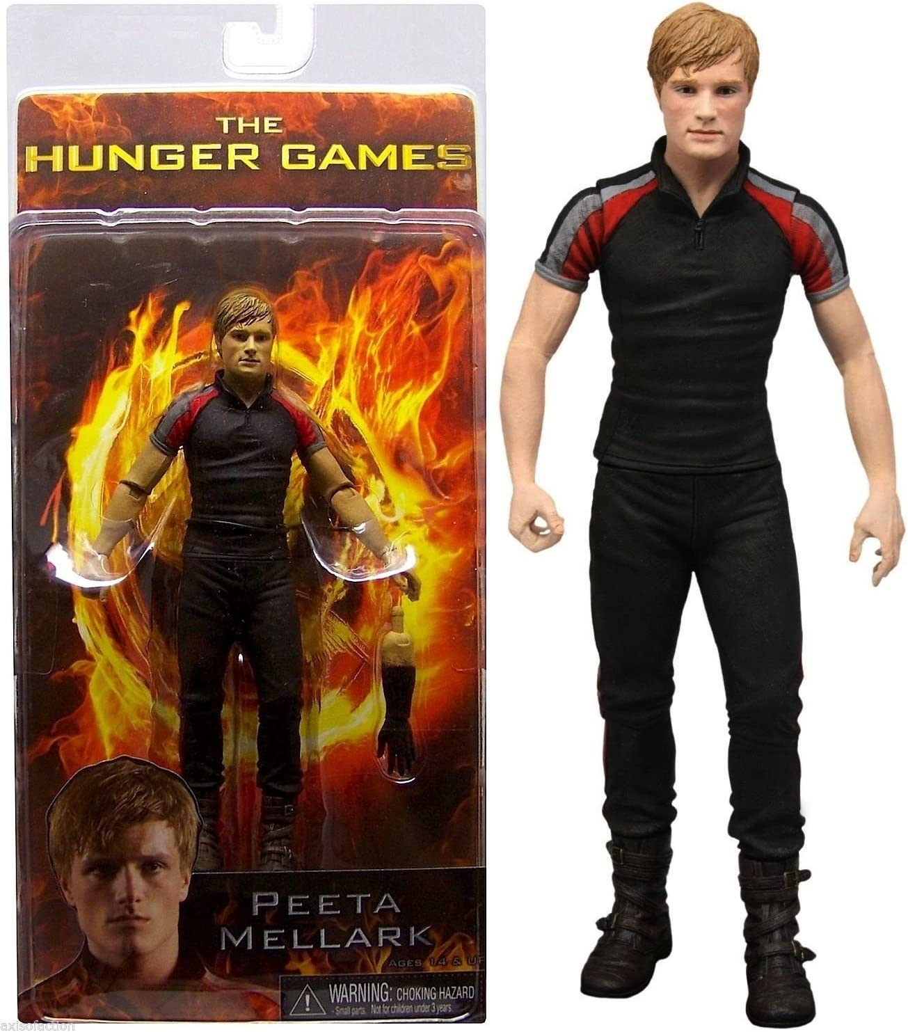 The Hunger Games Peeta Mellark Training Day Outfit NECA Reel Toys Action Figure