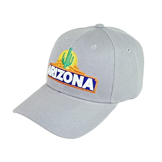 3ec68e15899d1 Bingoo Arizona Embrodiery Hat Adjustable Cactus State Baseball Cap (Gray)
