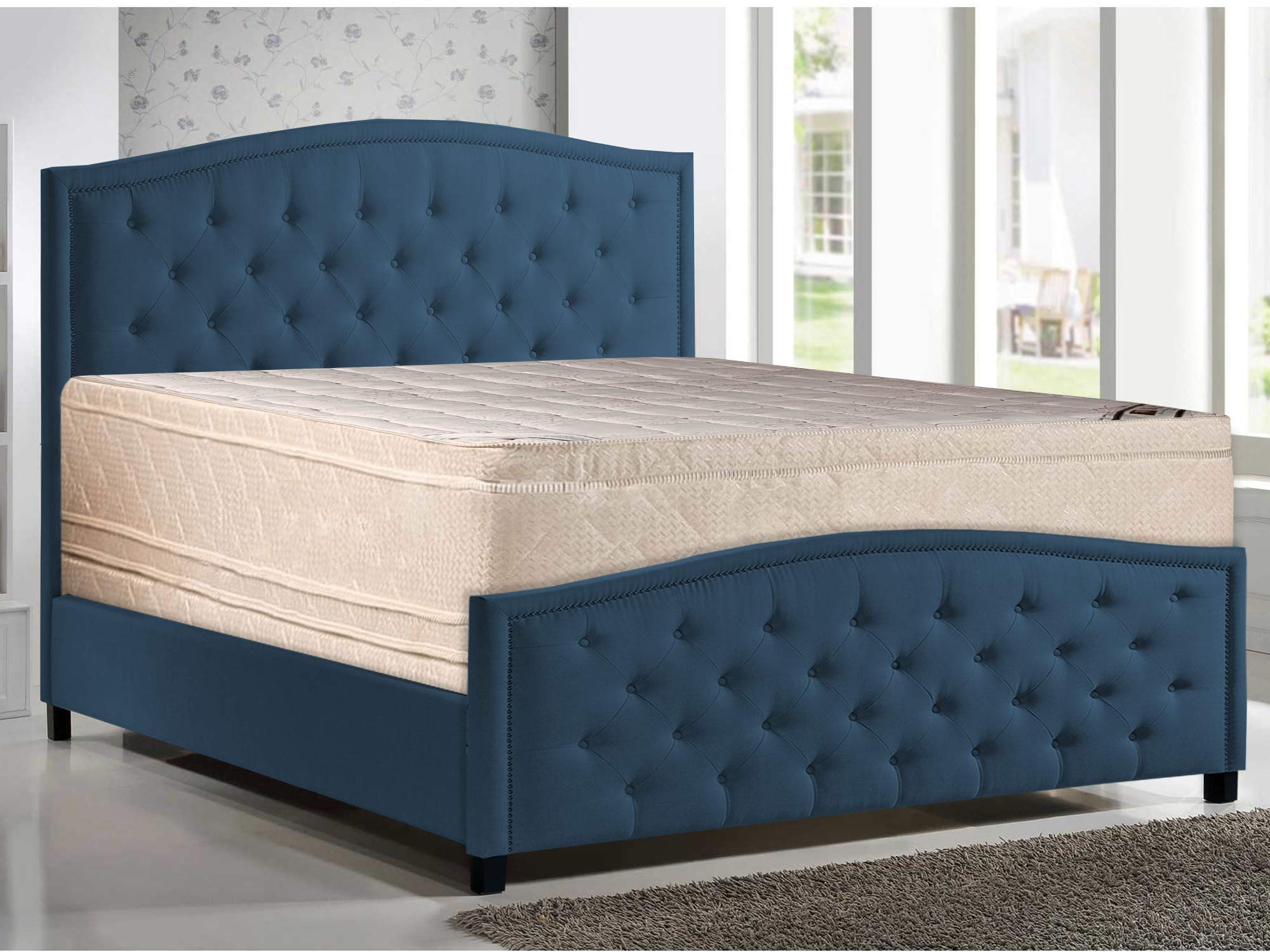Mattress Solution, 10-Inch Meduim Firm Eurotop Pillowtop Foam Encased Hybrid Innerspring mattress and 4-inch Box Spring/Foundation Set, Good For Back, Twin Size by Mattress Solution