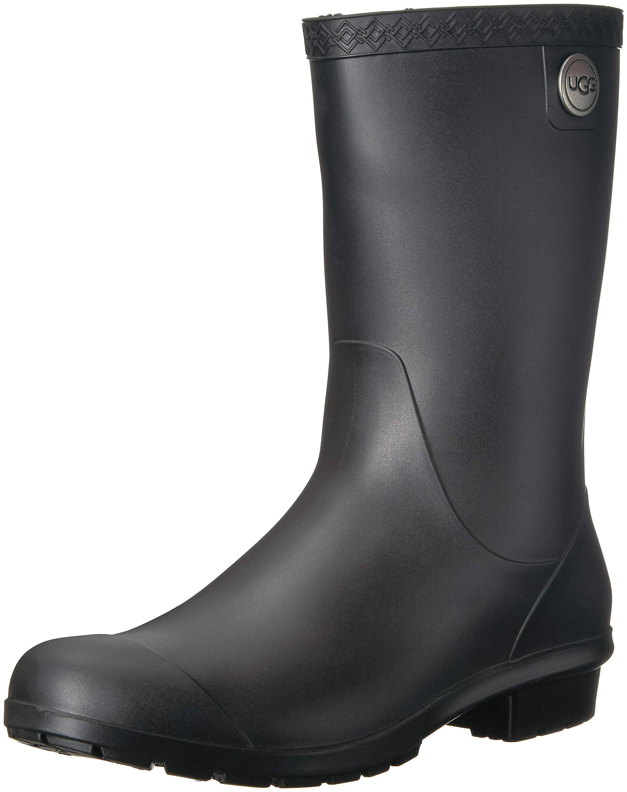 UGG Women's Sienna Matte Rain Boot, Black, 7 M US by UGG