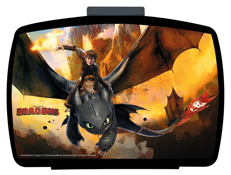 p:os 25947, DreamWorks Dragons Brotdose Premium mit Einsatz, 16 x 12 x 6,5 cm p:os handels Gmbh