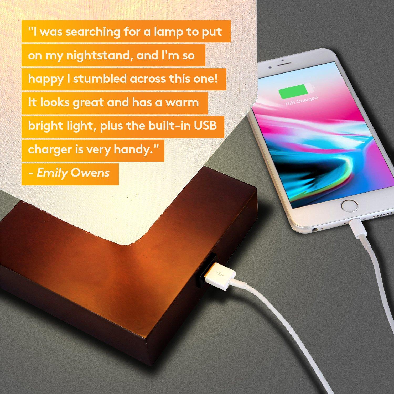 Brightech Grace Led Usb Bedside Table Desk Lamp Modern