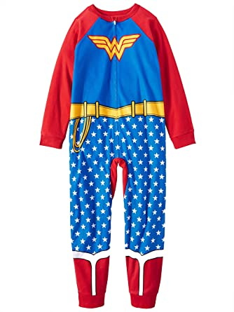 AME Wonder Woman Girls One Piece Sleeper