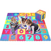Tinny Time Alphabet Number Puzzle Foam Mat for Kids