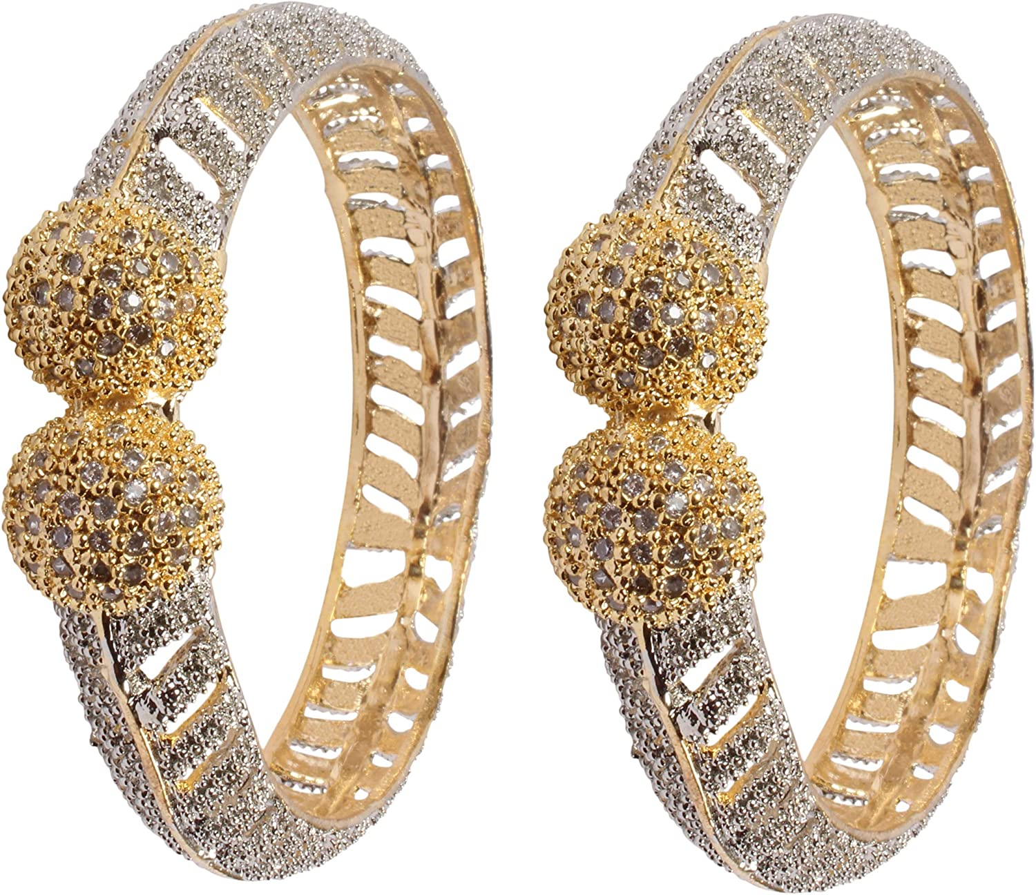 Details about  /Womens Amazing Gold Tone CZ Stone Indian Bangles Partywear Traditional Jewelry