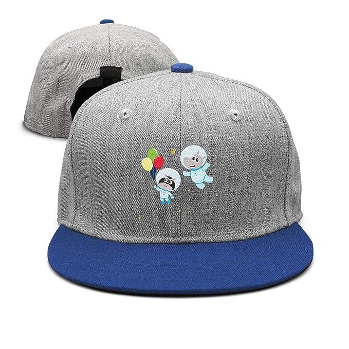 6c325891feb62 Trum Namii Unisex Wool Blend fit Cap Cat Astronaut Balloon and Hippo Snapback  Hats for Men