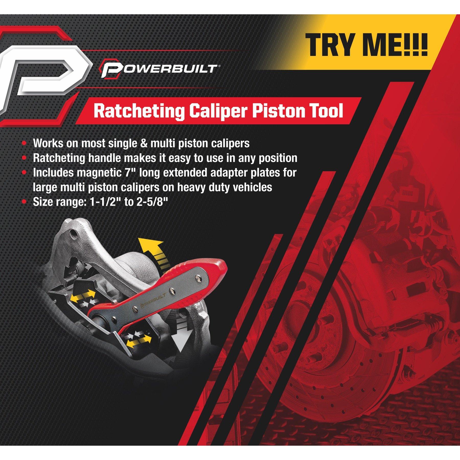 Powerbuilt Ratcheting Brake Caliper Piston Spreader Press Tool - 647861 by Powerbuillt (Image #2)