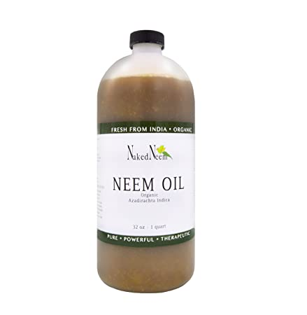 Organic Neem Oil (32 Oz) 100 Percents Pure Cold Press, Unrefined   6 Sizes by Zatural