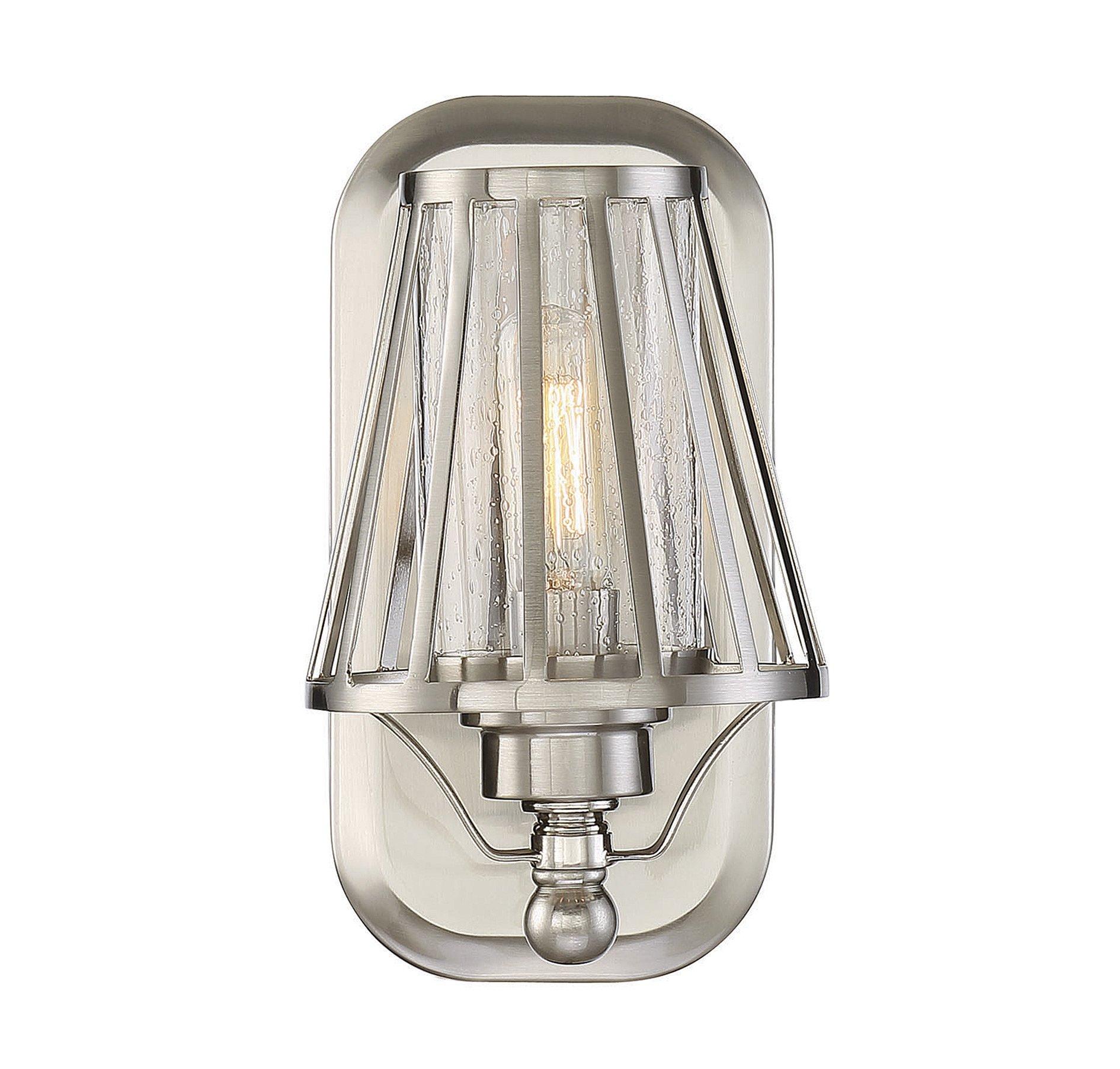 Savoy House 9-4078-1-SN Caroll 1-Light Sconce in Satin Nickel