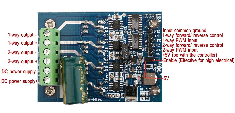High Power Dc Brush Motor Controller Pwm Speed Pwmmotorcontrollerwithforwardandreversejpg 5 40v 16a H Bridge Driver Board Regulator Control