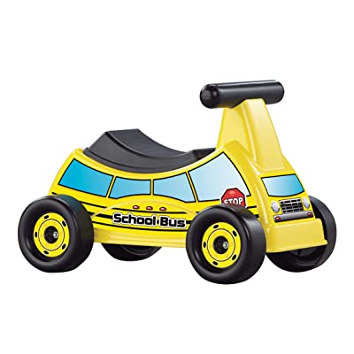 American Plastic Toys School Bus Ride-On, Yellow, Model:30010: Toys & Games