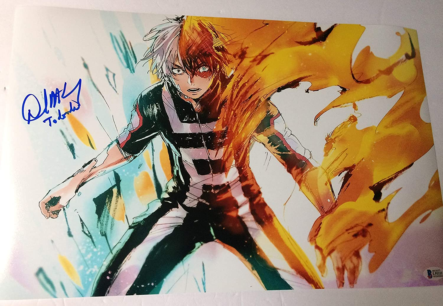 David Matranga Autographed 11x17 Photograph My Hero Academia