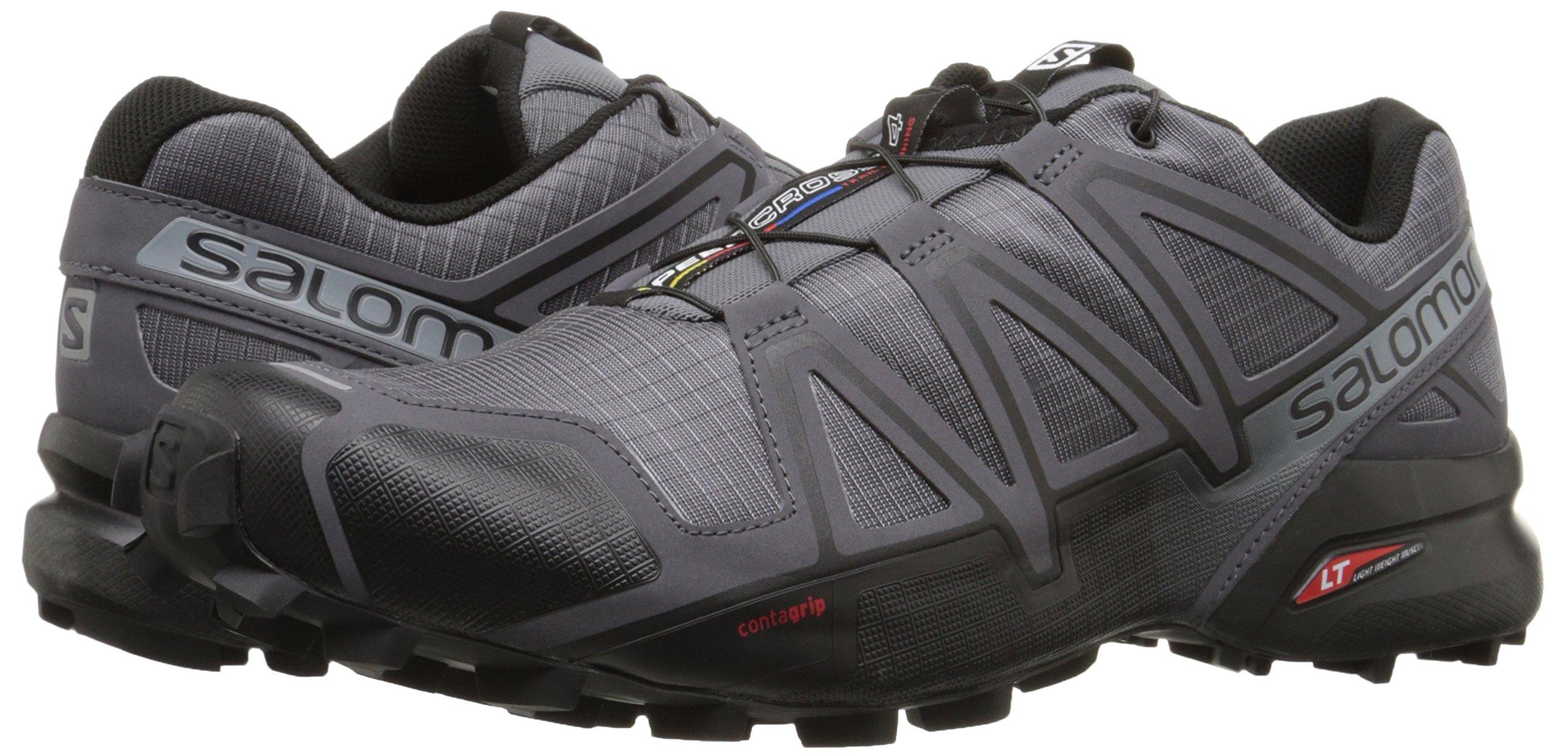 Salomon Men's Speedcross 4 Trail Runner, Dark Cloud, 7 M US by Salomon (Image #7)