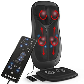 Gideon Shiatsu Massage Cushion with Heat Portable Chair Pad Massager with Deep Kneading Pain Relief for  sc 1 st  Amazon.com : shiatsu massage chair pad - lorbestier.org