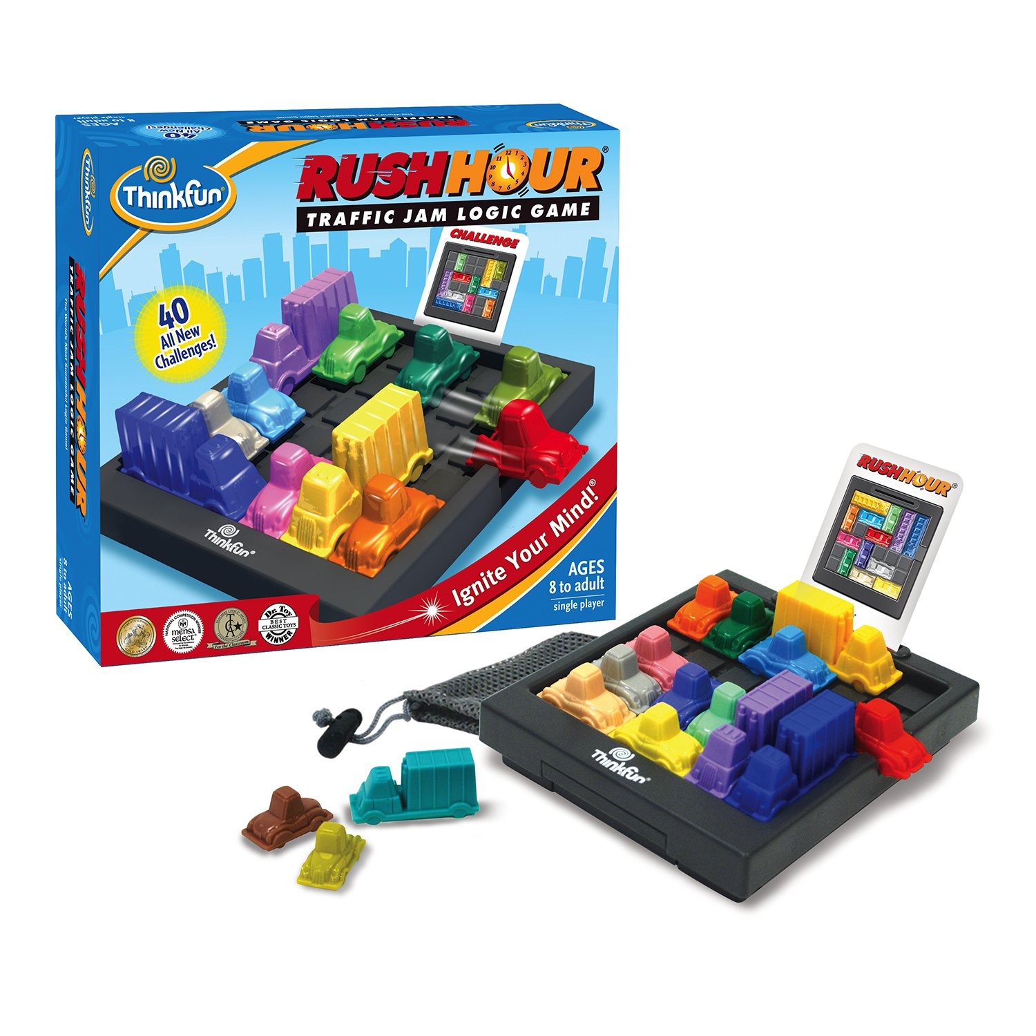 ThinkFun Rush Hour Traffic Jam Logic Game and STEM Toy for Boys and Girls Age 8 and Up - Tons of Fun With Over 20 Awards Won, International Bestseller for Over 20 Years by Think Fun