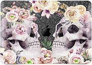 Lex Altern Glitter Case for Apple MacBook Air 13 inch Pro Mac 15 Retina 12 11 2020 2019 2018 2017 Pink Peony Hard Gray Bling Floral Flower Sparkly Skulls Boho Shiny Matte Cover Print Roses Floral Gift