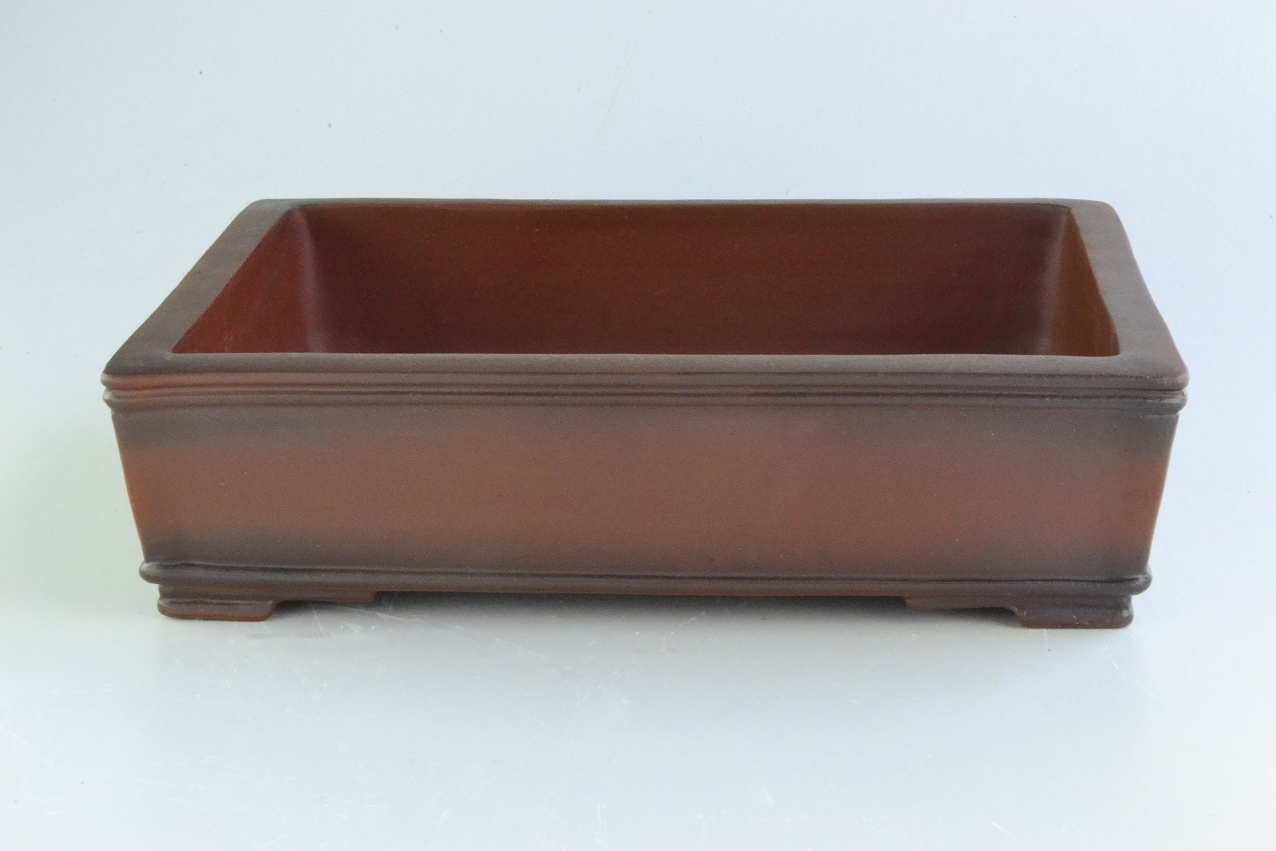 Unglazed Antiqued Extra Large 15'' Rectangular Thin and Shallow Yixing Zisha Bonsai Pots (KPA19-15)