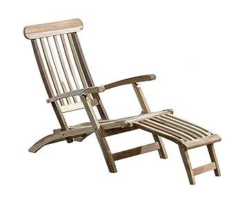 Sedia A Sdraio In Legno : Trendy home24 sdraio in legno di teak sedia a sdraio da giardino in
