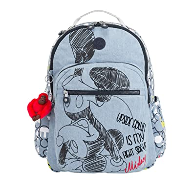 805432d52 Amazon.com: Kipling Disney's 90 Years Of Mickey Mouse Seoul Go Large Laptop  Backpack One Size Three Cheers Bl 1: Shoes