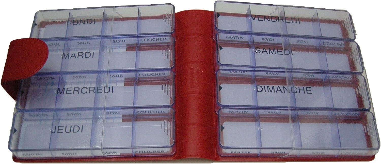 Medidos - Pastillero semanal (acabado aterciopelado): Amazon.es: Salud y cuidado personal