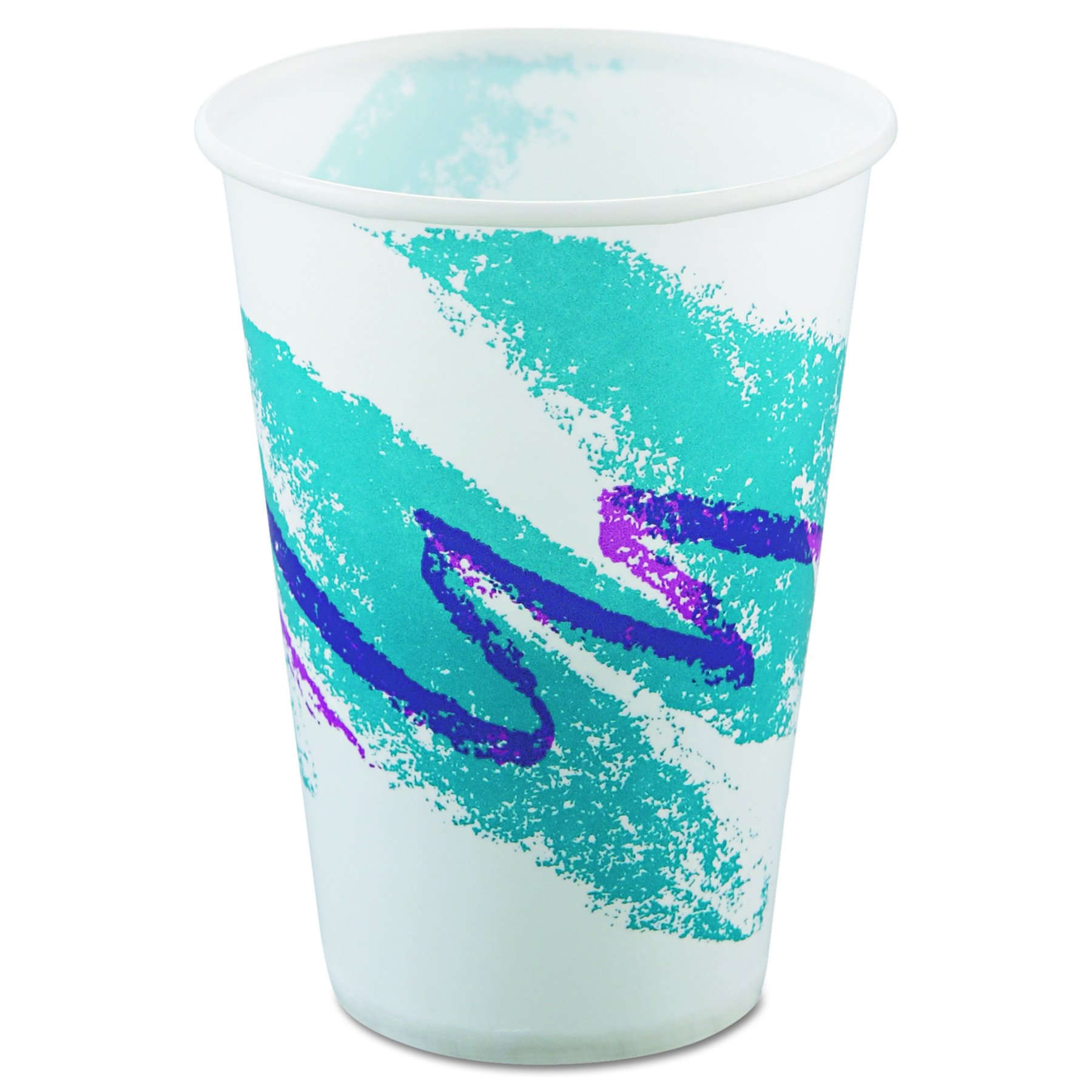 SOLO R10NN-00055 Jazz Design Treated Wax Coated Paper Cold Cup, 10 oz. (20 Packs of 100)