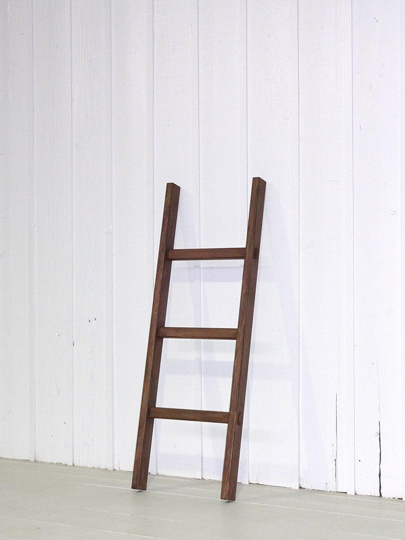 強度耐久性抜群!通常木製梯子(はしご)3段1.17m 無垢 (ウォルナット) B00J2SL9Q0 ウォルナット