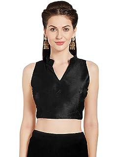 fd521b5beb8e3 Women s Art Silk Readymade Saree Blouse Sleeveless Choli Mirchi Fashion Top