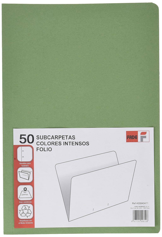 Elba Fade–Pack di 50cartelline semplici riciclate, Verde, colore: verde Hamelin Brands 400040471