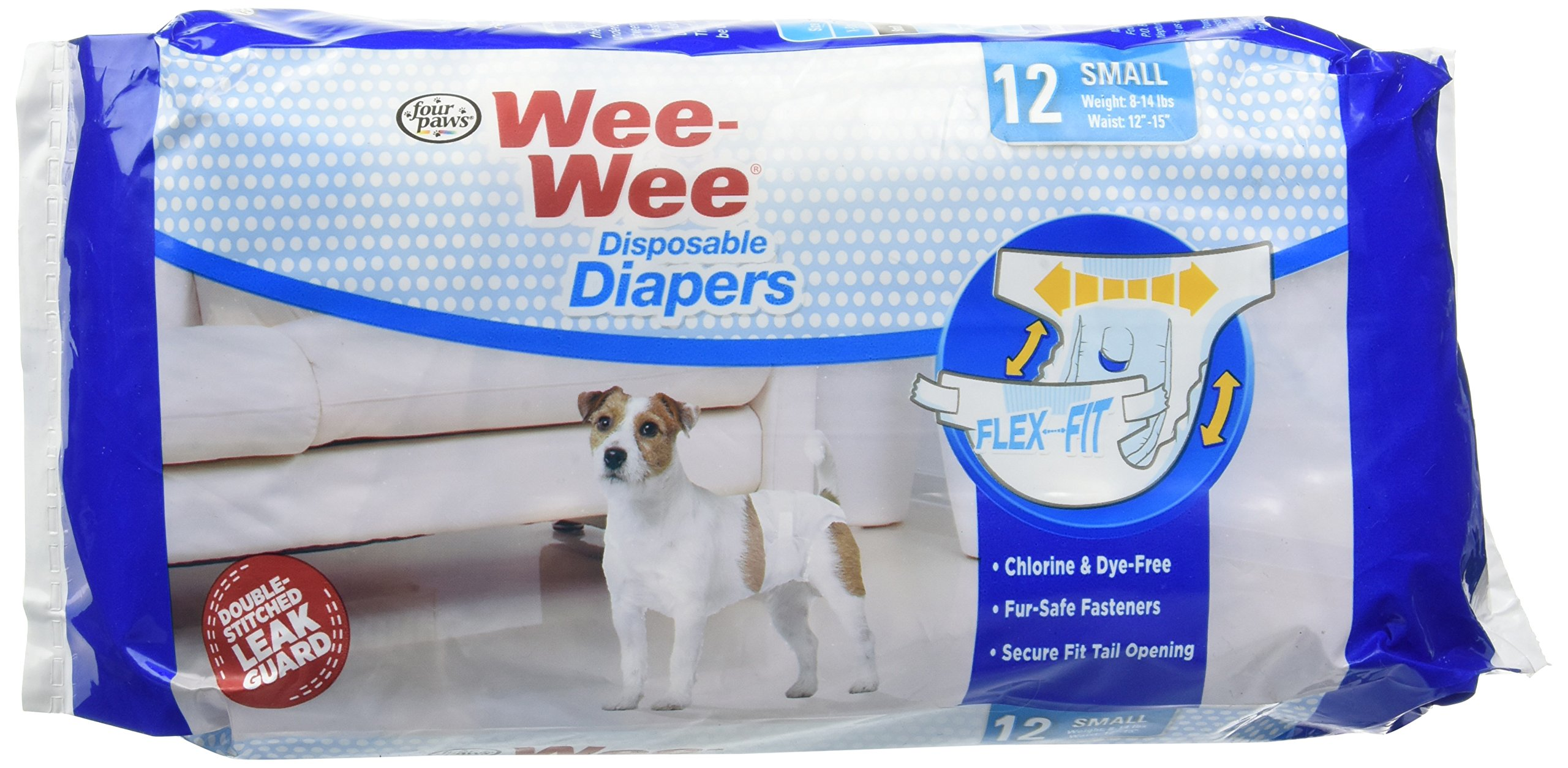 (3 Pack) Wee-Wee Products Disposable Dog Diapers Small