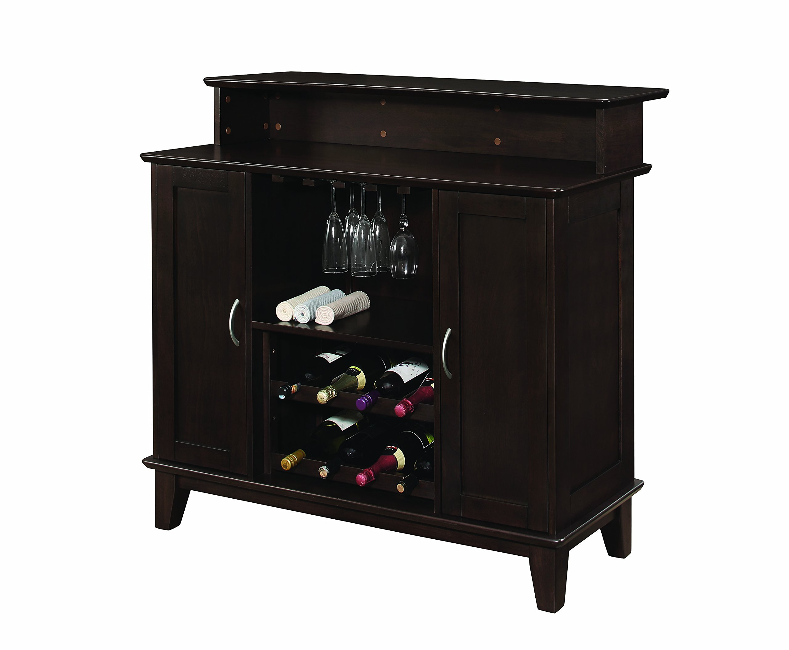 2-door Bar Unit with Wine and Stemware Storage Cappuccino by Coaster Home Furnishings