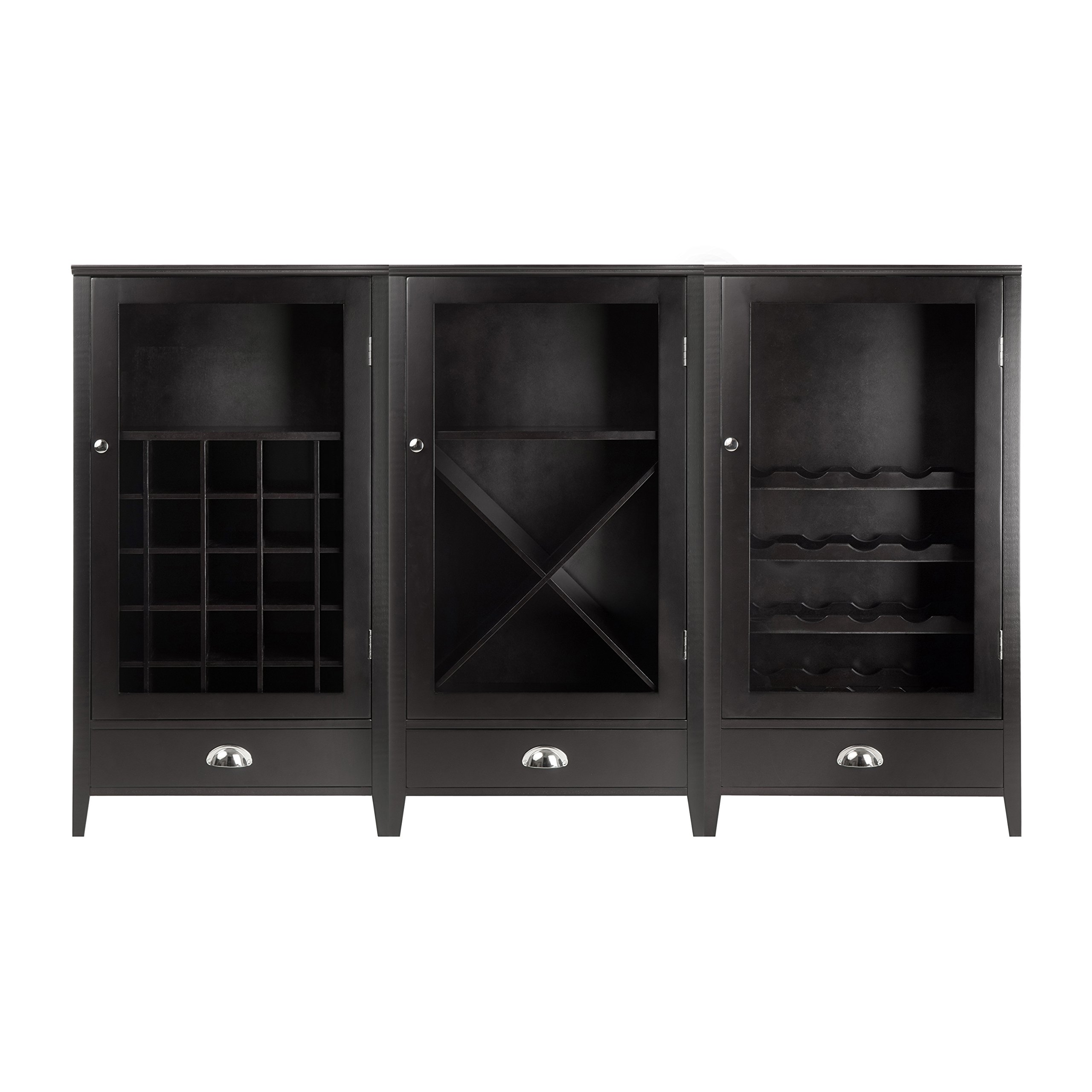 Winsome Wood 3-Piece Wine Cabinet Modular Set by Winsome
