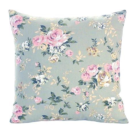 Federe per cuscino a fiori stile country - Verde, 16\'\' x 16 ...