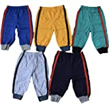 5 Colorful Warm Pipe-Design Pants Pajamas for Babies