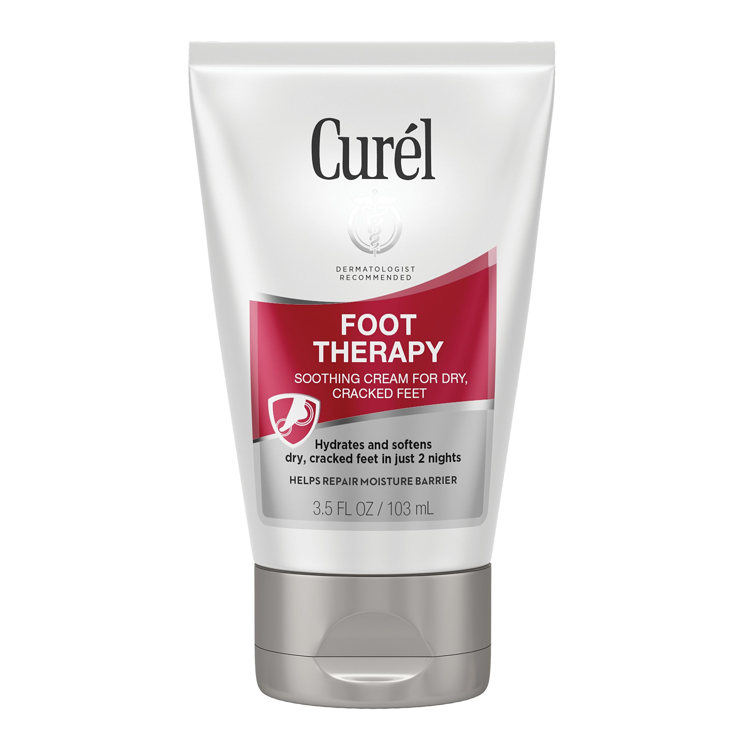 Curél Foot Therapy Cream, Soothing Lotion for Dry, Callused Feet and Cracked Heels, Quick Absorbing, Humectant Moisturizer, 3.5 Ounce, with Shea Butter, Coconut Milk, and Vitamin E