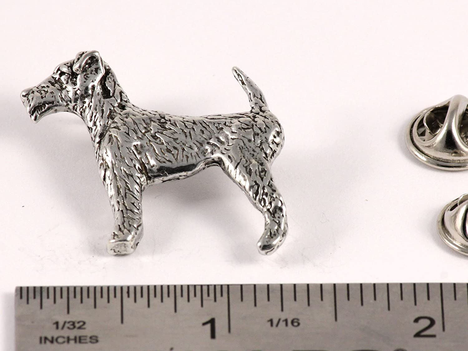 Long Haired Chihuahua Dog Pewter Lapel Pin Jewelry Brooch D350F