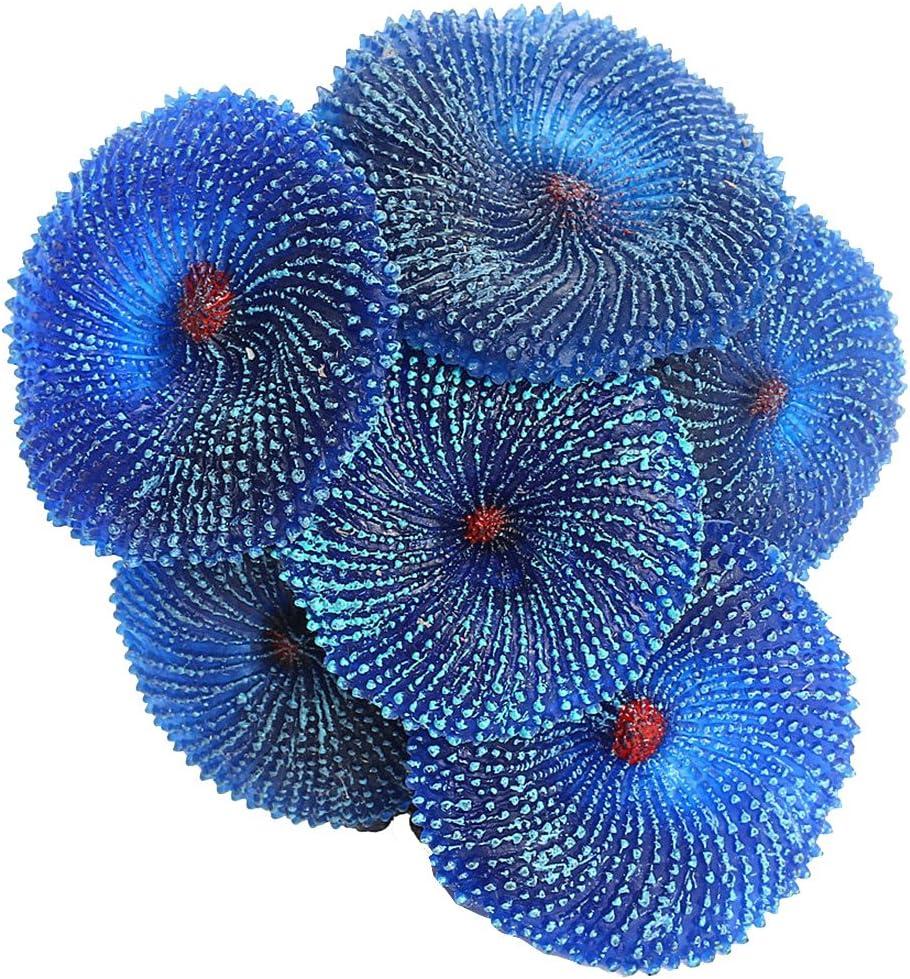 Aquarium Artificial Resin Coral Sea Plant Ornament Fish Tank Decoration Simulation Nontoxic - Green