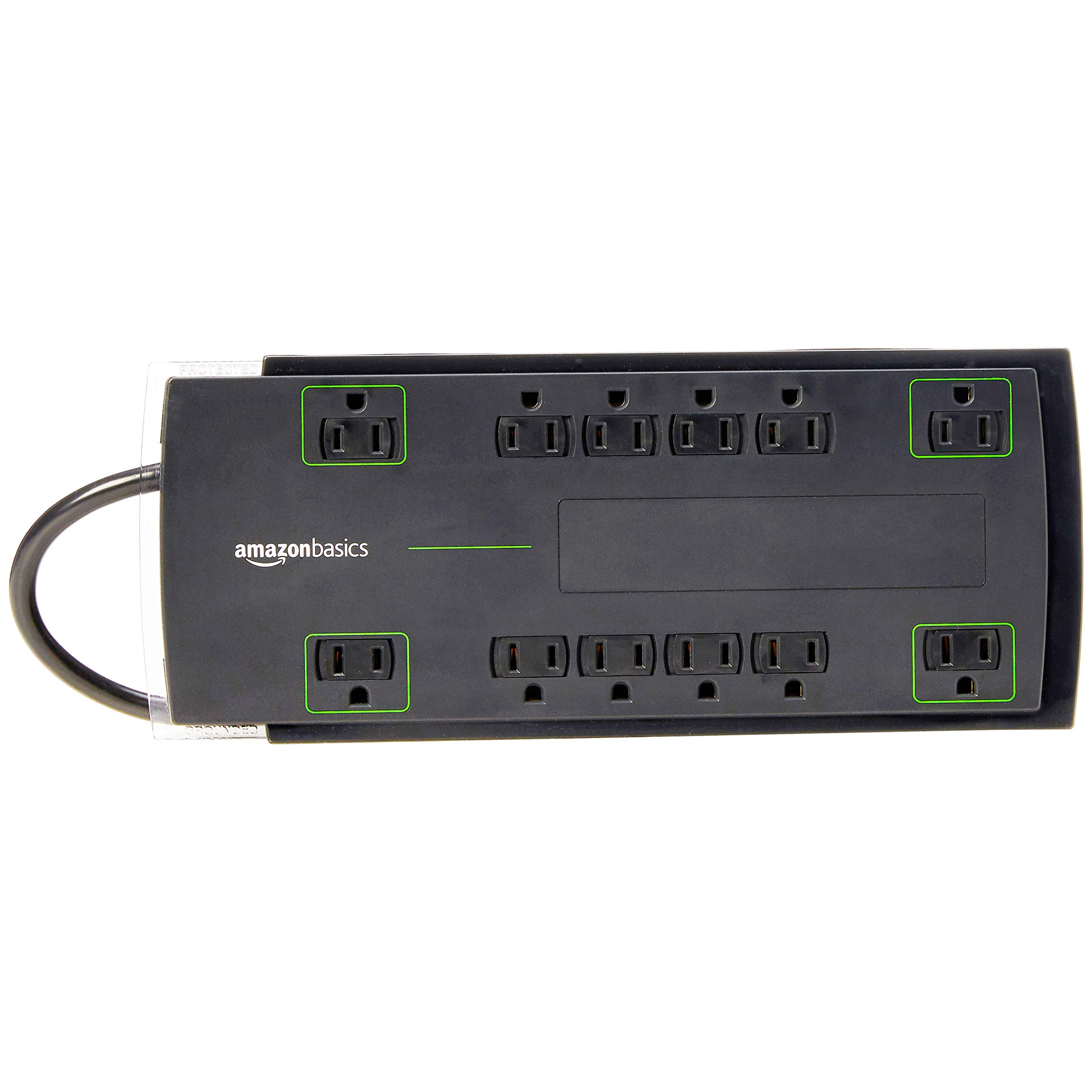 AmazonBasics 12-Outlet Surge Protector | 4,320 Joule, 8-Foot Cord