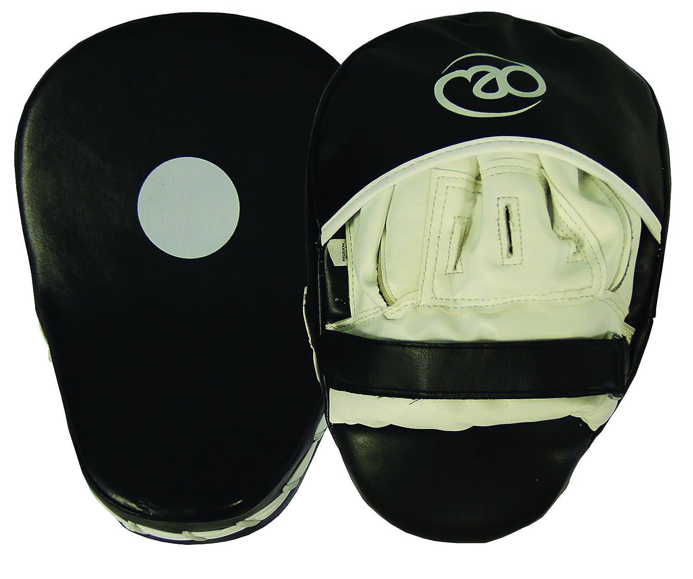 Boxing - Mad - Juego paos de boxeo, sintético curvado, color negro y blanco (2 unidades) Fitness-Mad BHJPPVC