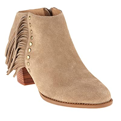322FAROS-LTTAN Vionic Women's Faros Fringed Casual Boots - Light Tan - 7.0 - M