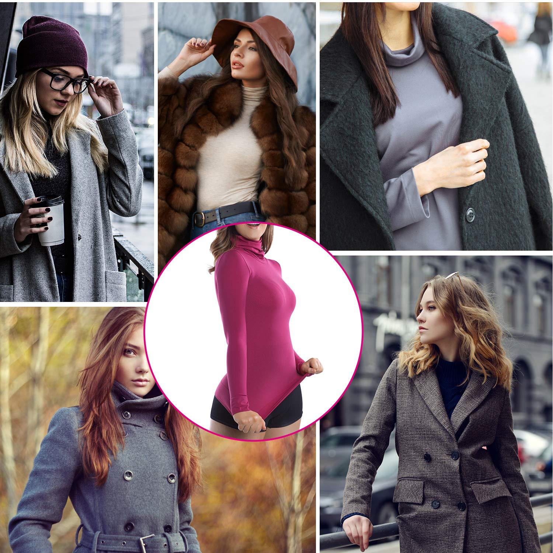 +MD Womens Thermal Underwear Top Compression Long Sleeve Shirt Turtleneck Undershirt Basic Shapewear