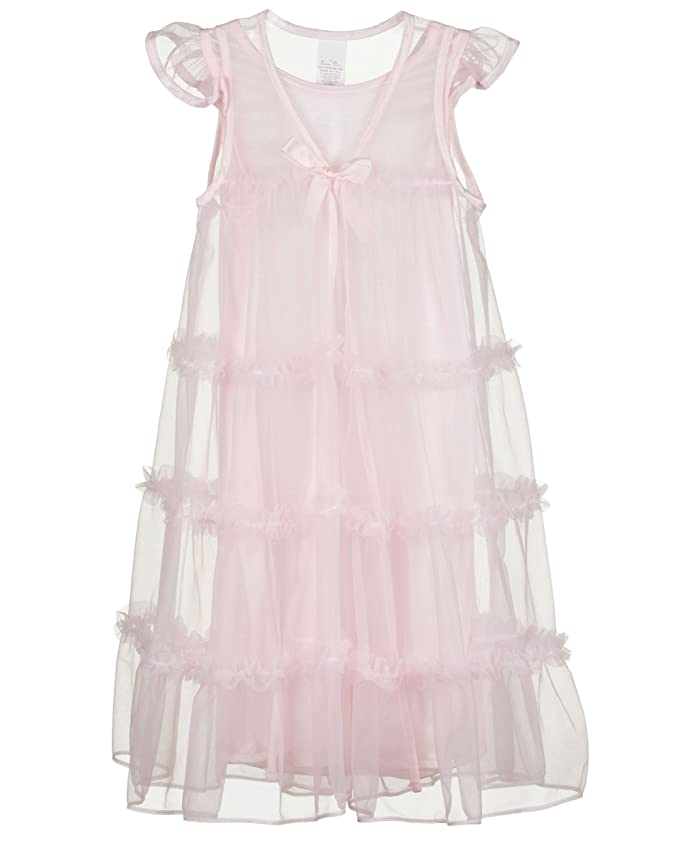 Amazon.com: Laura Dare Little Girls Princess Peignoir Nightgown and ...